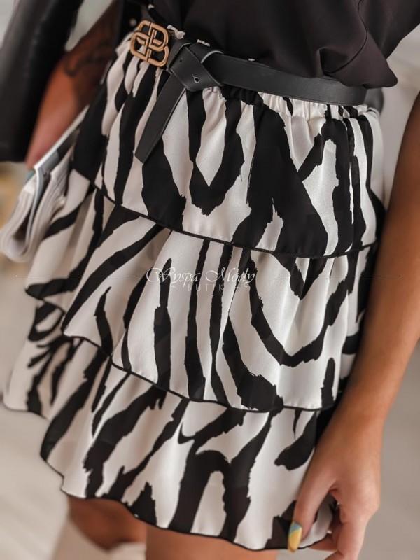 spódniczka zebra black&white