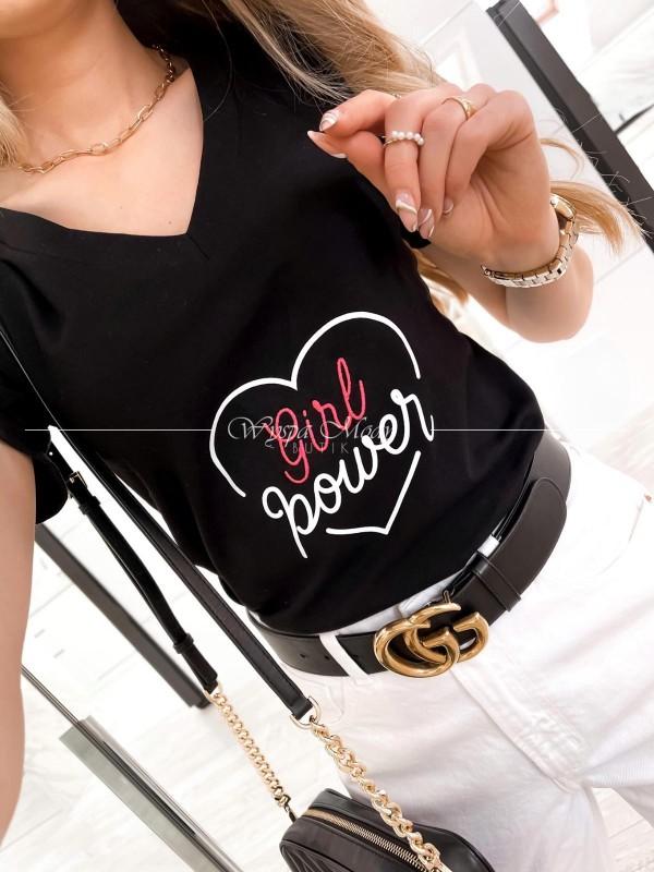 T-shirt girl power black