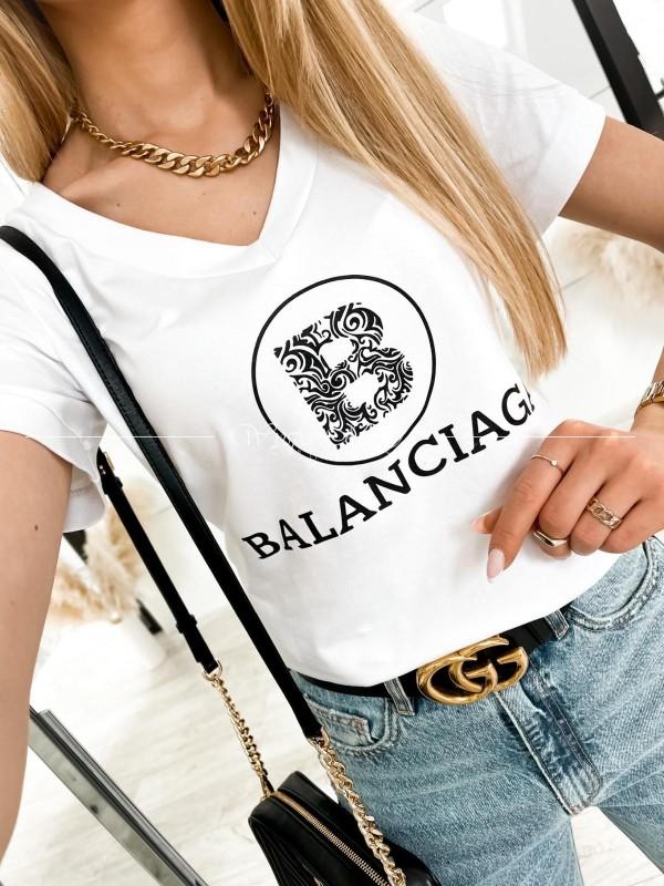 T-shirt balanciaga white