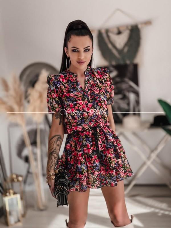Sukienka szyfonowa MAGNOLIA FLOWERS