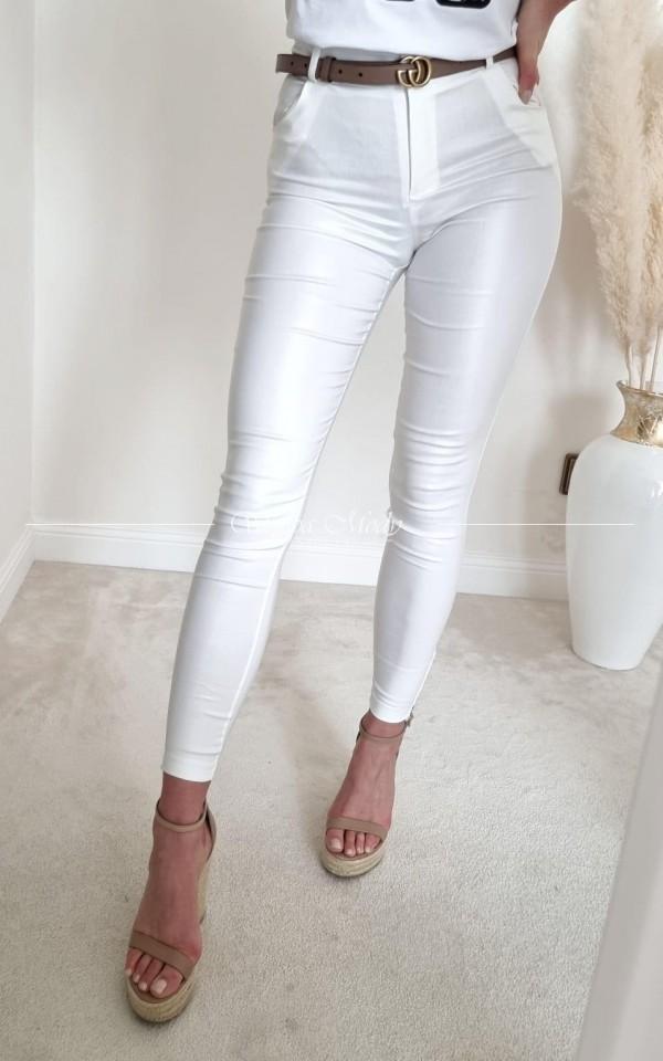 SPODNIE AMBER White