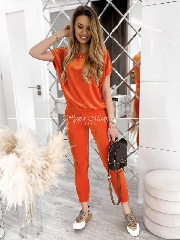 KOMPLET WELUROWY ELLENA Orange