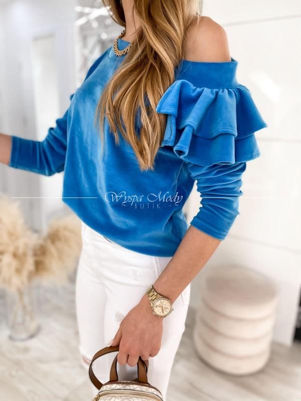 WELUROWA FALBANA Blue