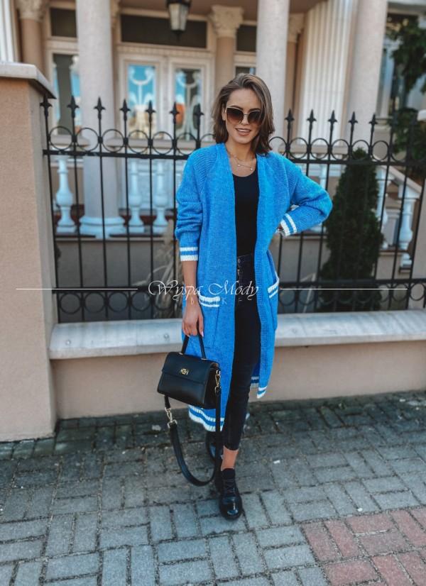 Kardigan Long Lea Blue