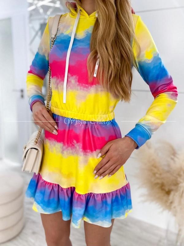 Komplet Mera bluza + spódniczka multicolor