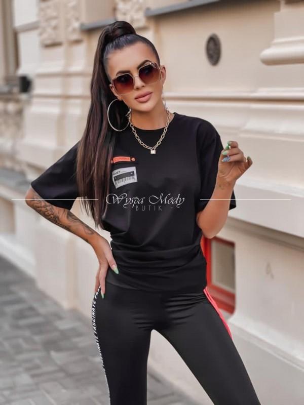 Bluzka ściągacz black & neon