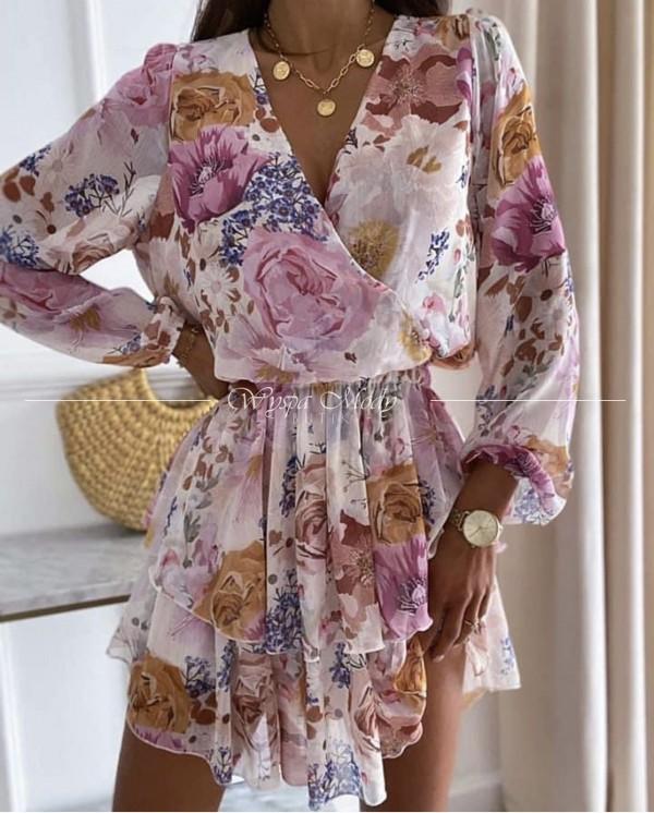 Sukienka velvet flowers