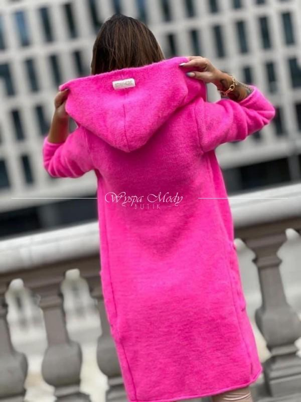 Kardigan włoska przedza neon Pink