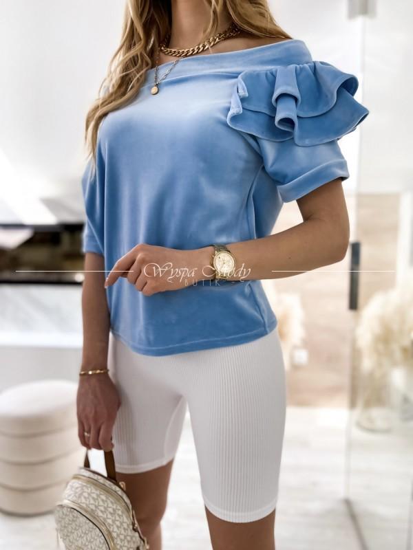 sweterek falbanka blue