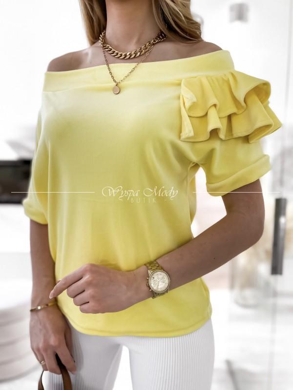 sweterek falbanka yellow