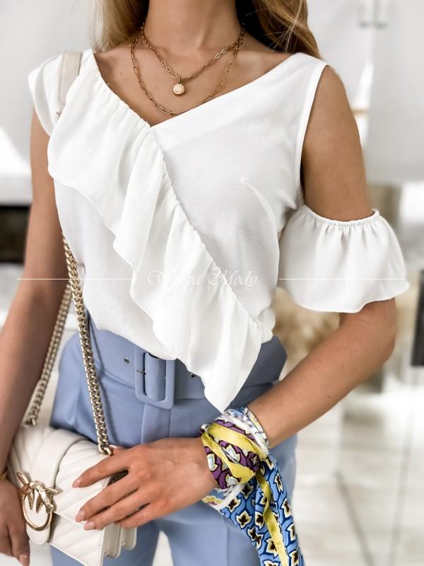 bluzka Malaquita white