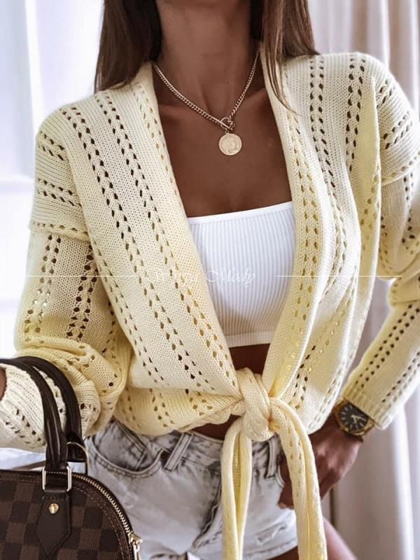 Sweterek wiazany yellow
