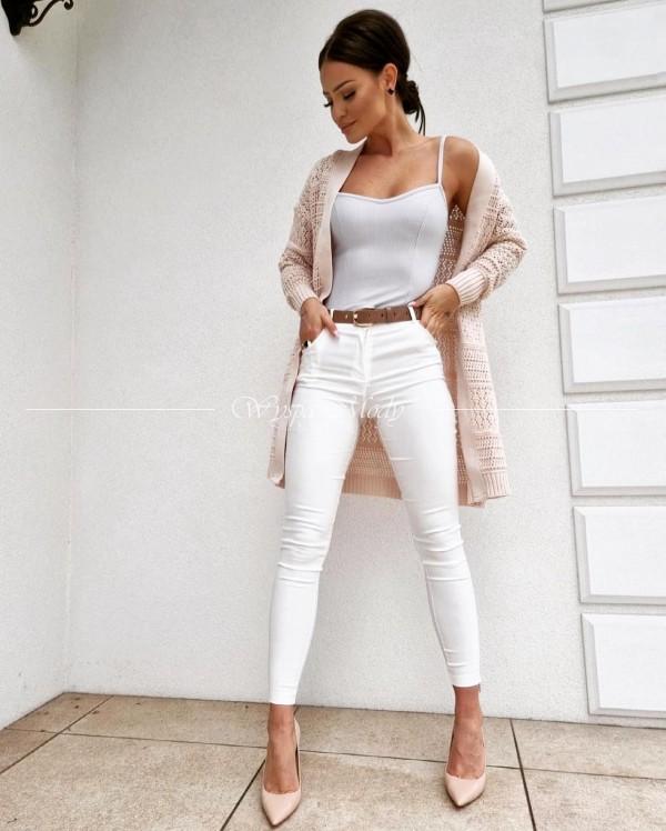 spodnie Denilde white