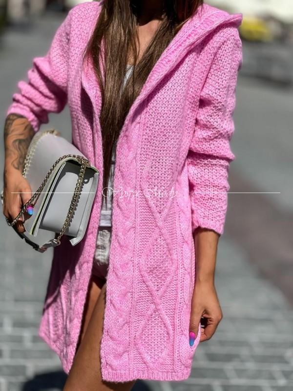 Kardigan Marbella neon pink