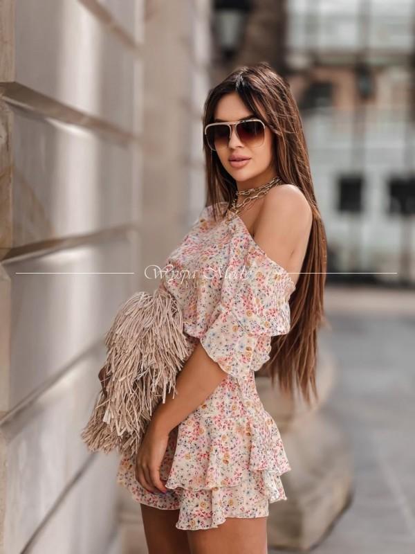 Sukienka ze spodenkami flowers Malaga