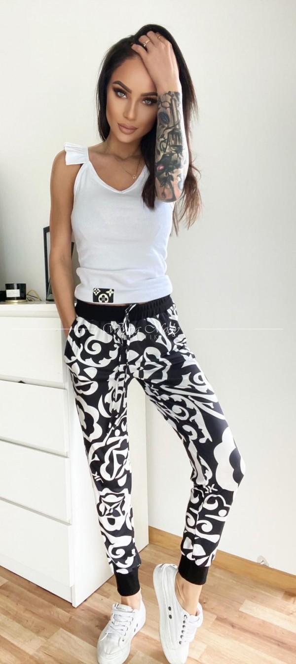 spodnie Millano Black&white