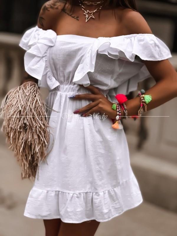 Sukienka Rachel white
