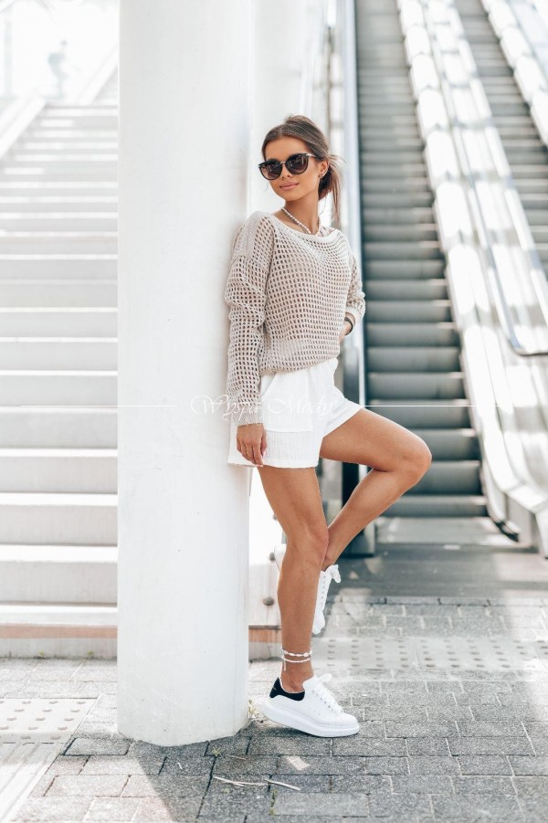 Sweterek ażurek Zakynthos beige