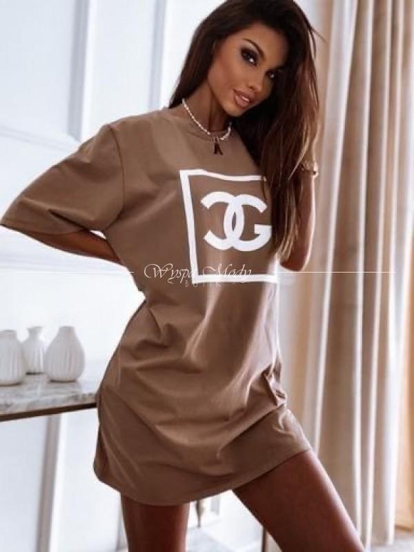 Tshirt LONG camel megi