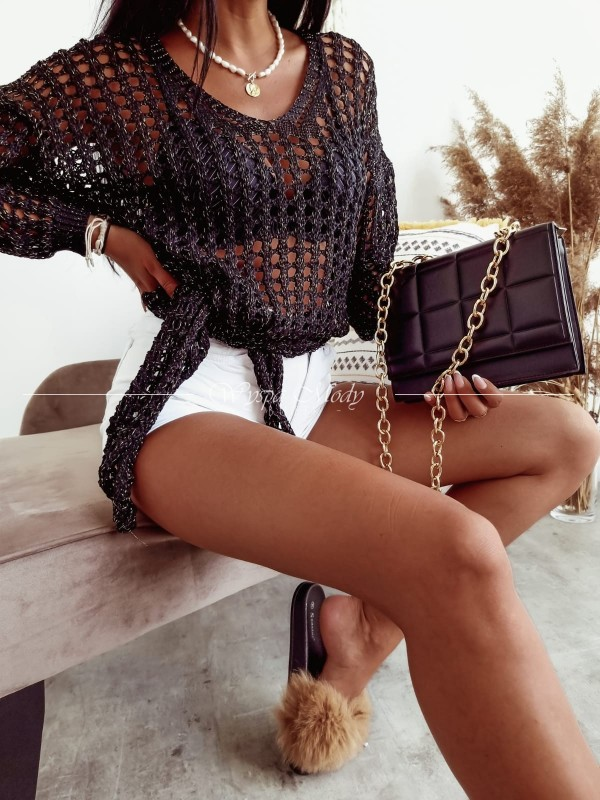 Sweterek boho black