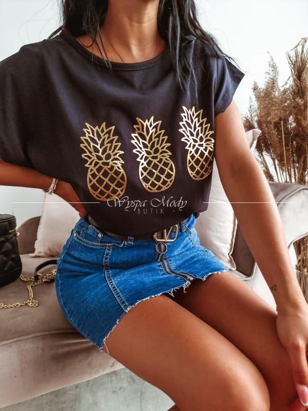 T-shirt Pineapple black