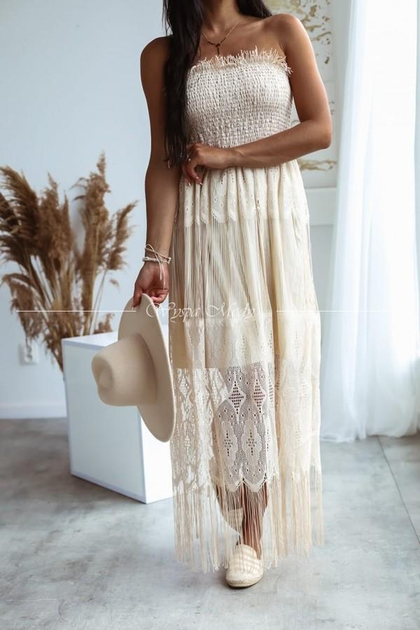 Sukienka Laos beige
