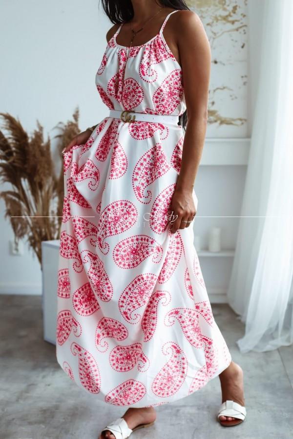 Sukienka Amanda white&red