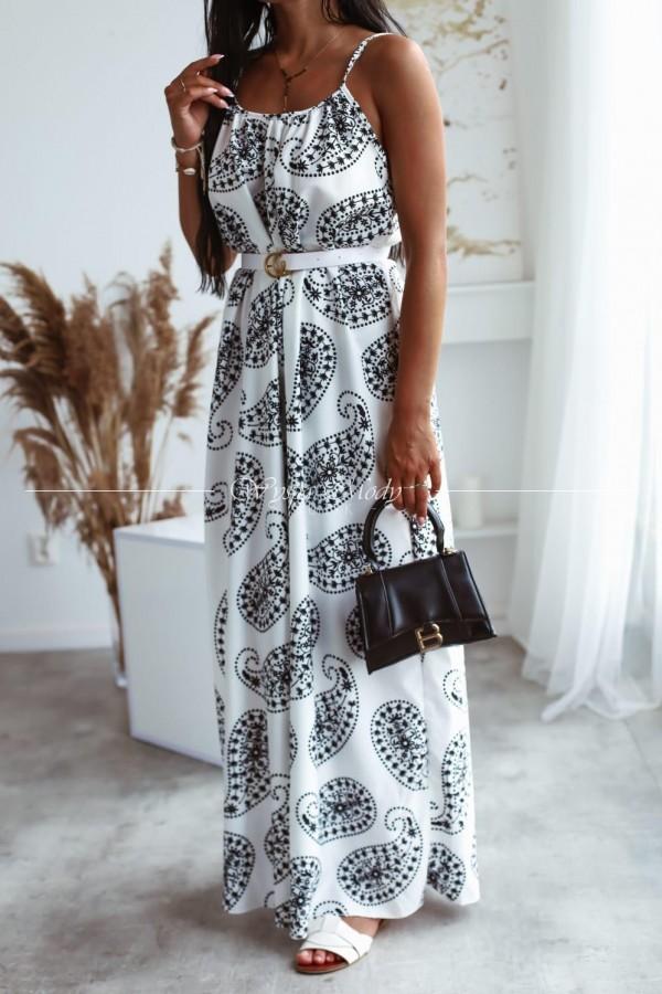 Sukienka Amanda white&black
