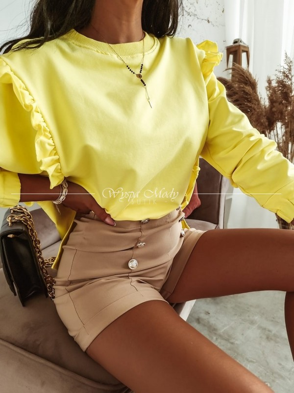 Bluza falbana yellow