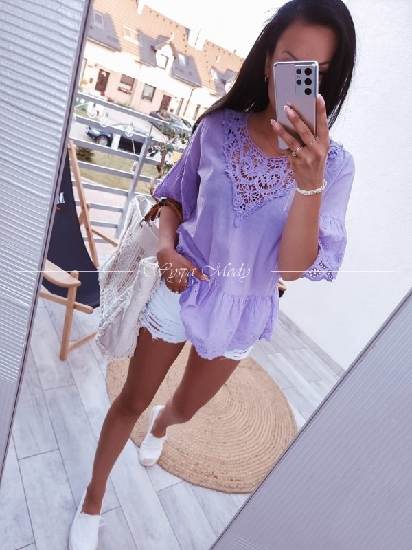 Koszula Koronka violet