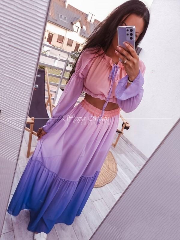 Komplet omber spódnica+ hiszpanka violet