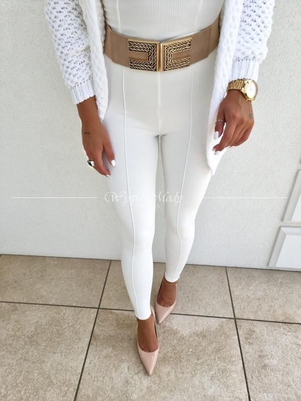 Spodnie Carrol white