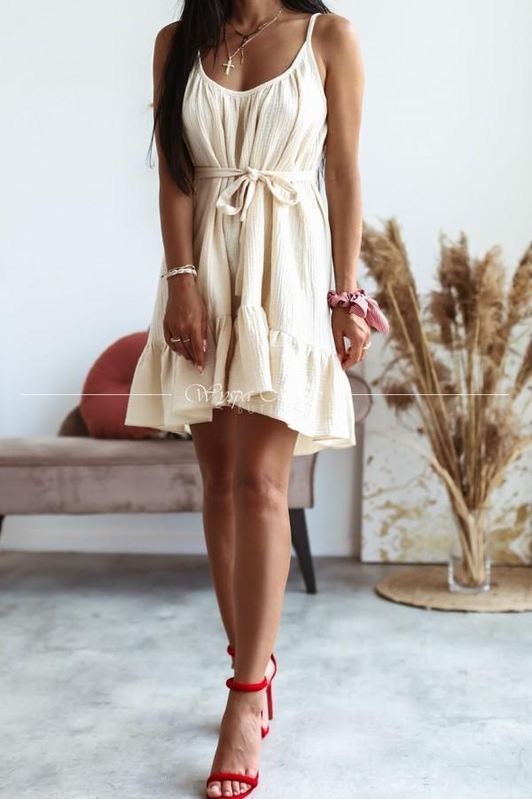 Sukienka muślin Beige