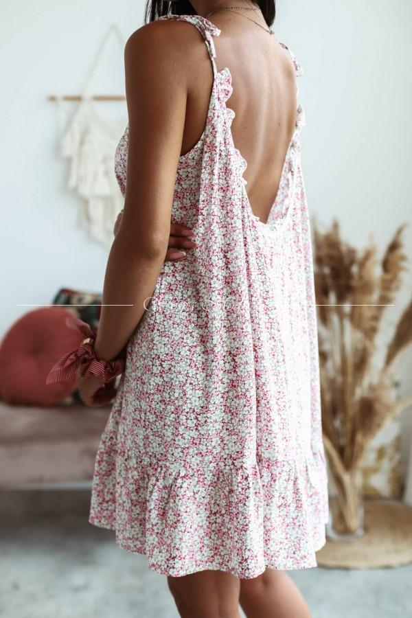Sukienka Muslina flower pink