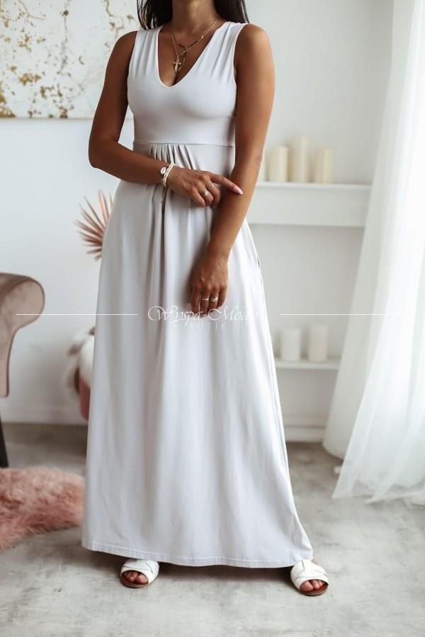 Sukienka Maxi light grey