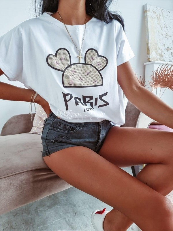 T-shirt paris love white