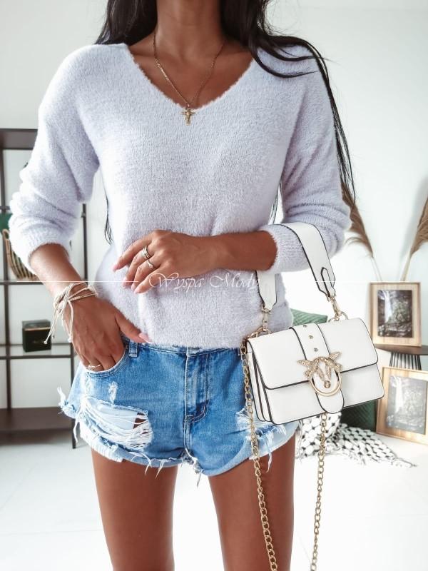 Sweterek soft light grey