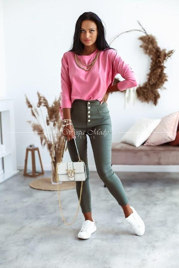 Bluzka z łańcuszkiem pink