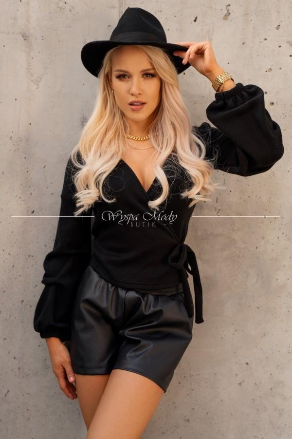Sweterek kopertowy black