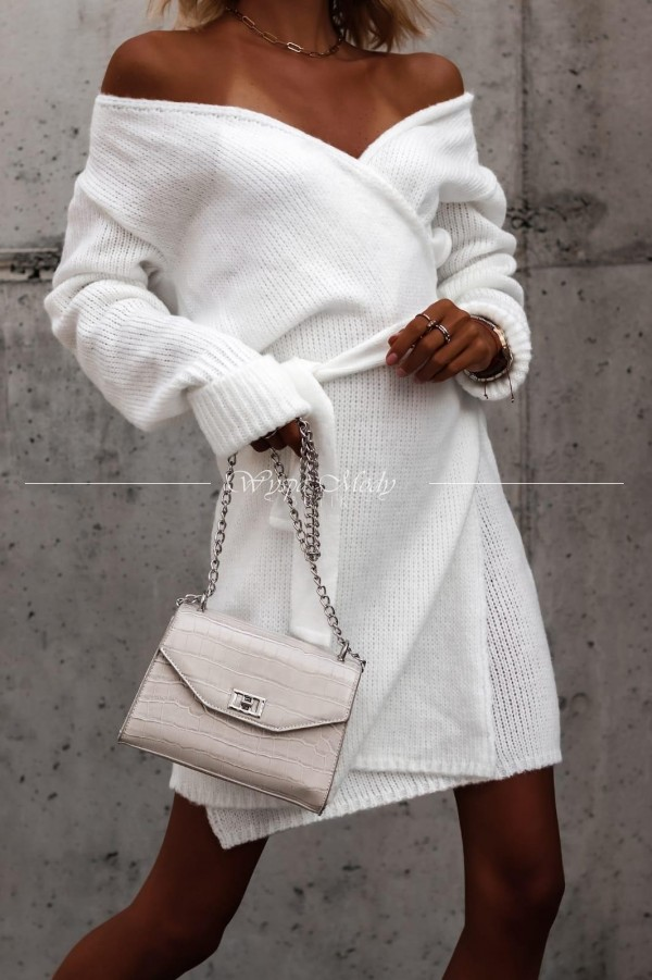 Sukienka kopertowa white