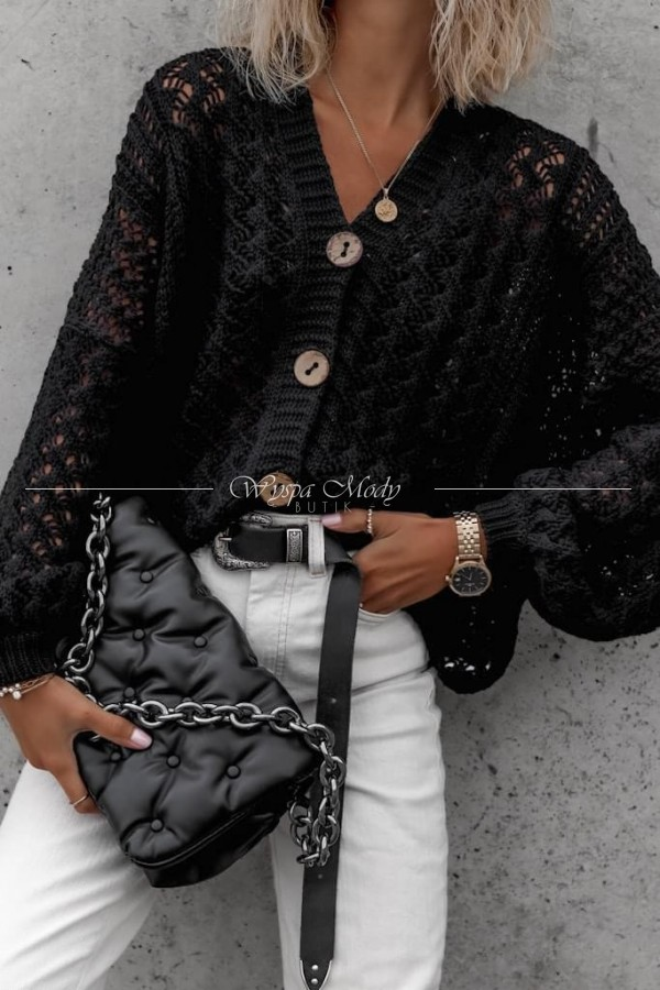 Sweterek Delice black