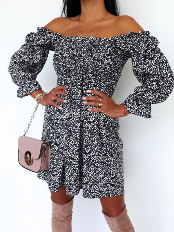 Sukienka morena black&white