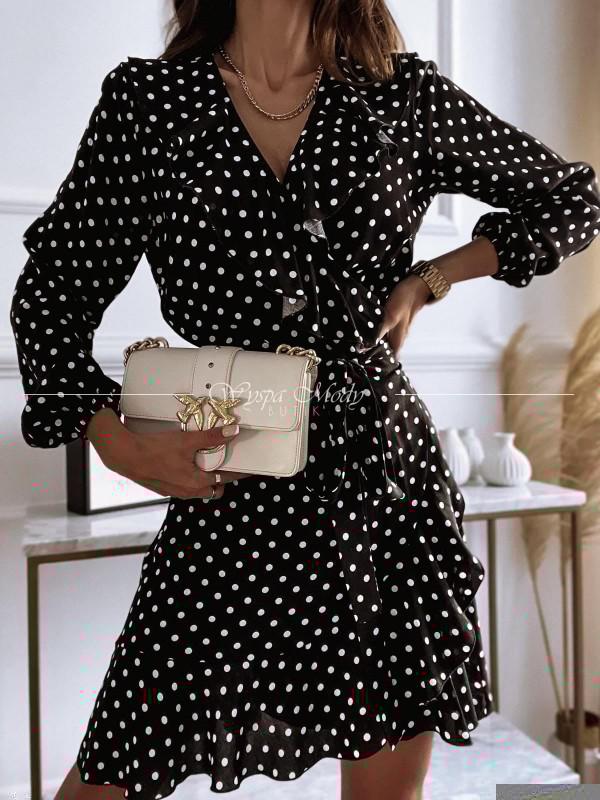 sukienka w groszki black