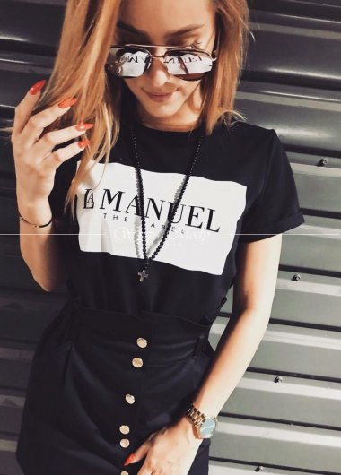 Tshirt Black La MANUEL