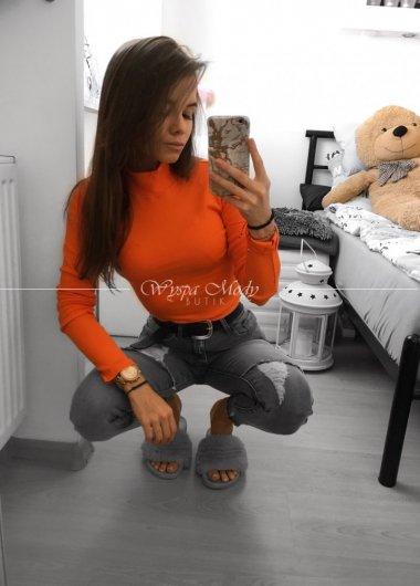 Neonowy golfik neon pomarańcz