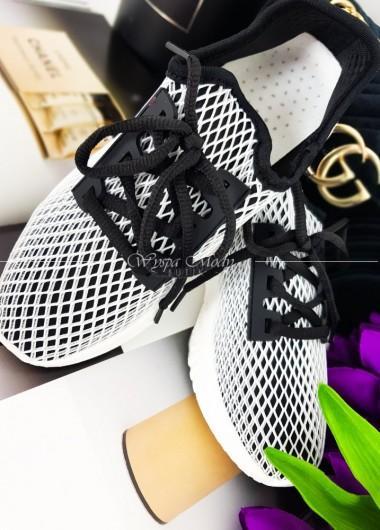 Adidasy black&white