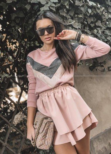 bluza koronka pink