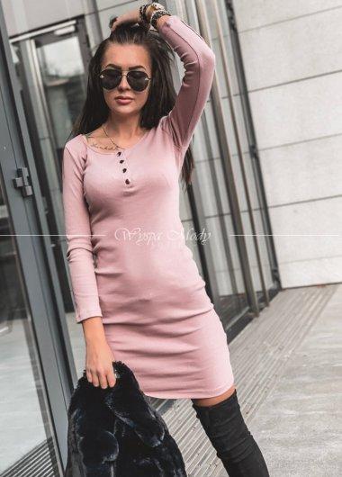 Sukienka prążek Dirty Pink