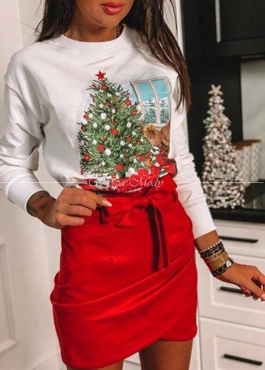 bluza merry christmas white