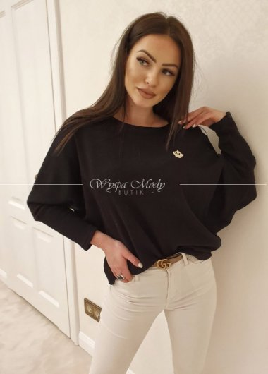 Sweter oversize modo black